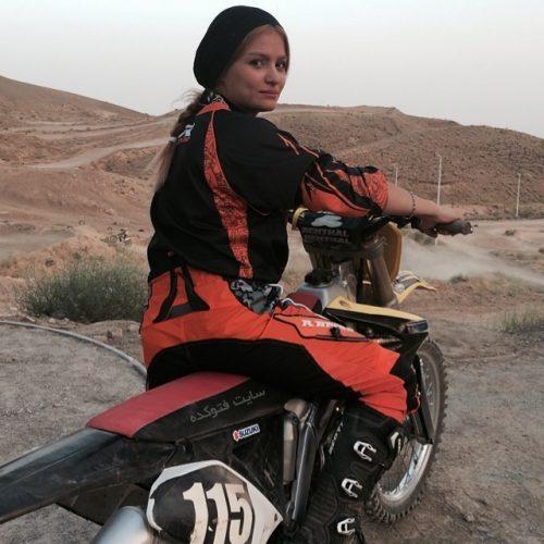 بهناز شفیعی دختر موتورسوار