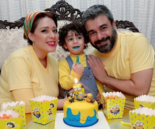بهشاد چنگیزی بازیگر و همسرش + پسرش رایکا + بیوگرافی