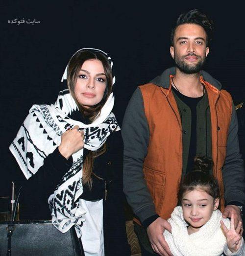 عکس بنامین بهادری و همسرش یالی محمود و دخترش بارانا