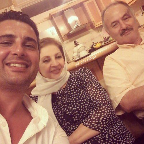 عکس پدر و مادر بهنام قربانی