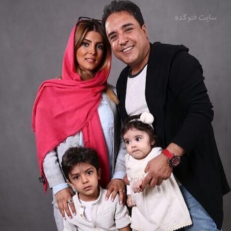 عکس بهزاد محمدی و همسرش + فرزندان