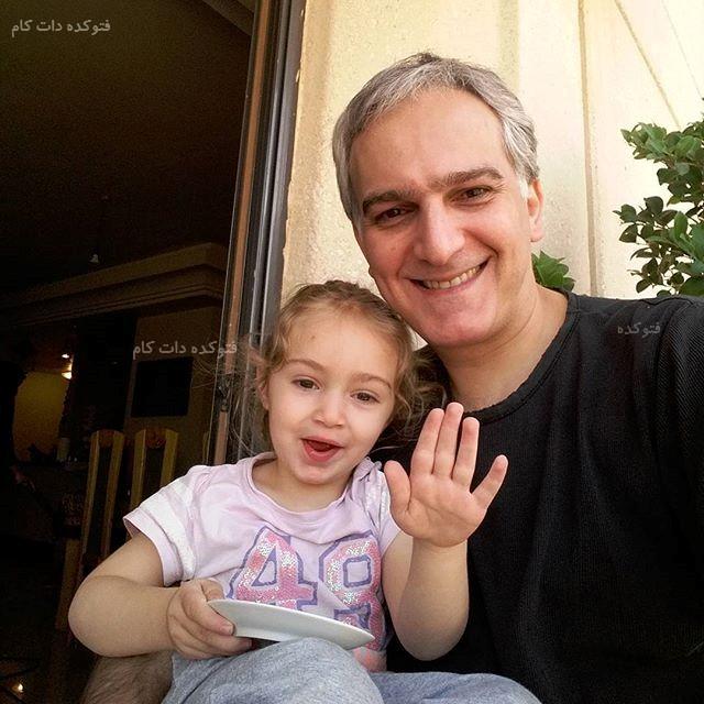 عکس بیژن بنفشه خواه و دخترش + بیوگرافی