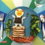 گالری عکس تزیین بشقاب غذای کودک
