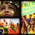 عکس تماشاگران بازی برزیل و هلند