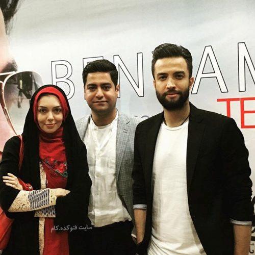 عکس بنیامین بهادری در کنار آزاده نامداری و همسرش سجاد عبادی