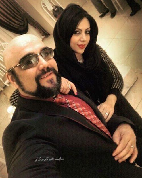 عکس امیرکاوه آهنین و همسرش