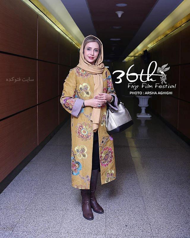 مدل مانتو شبنم قلی خانی در جشنوار فجر 96