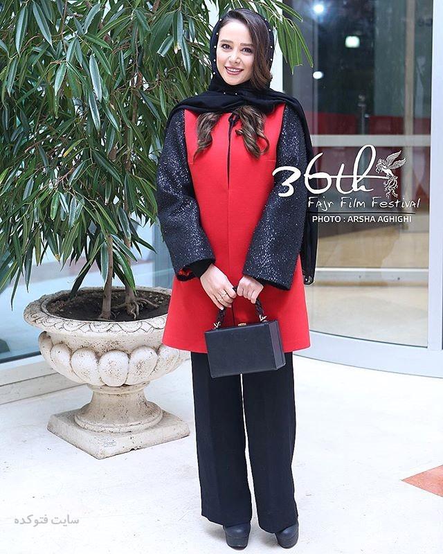 مدل مانتو الناز حبیبی در جشنوار فجر 96