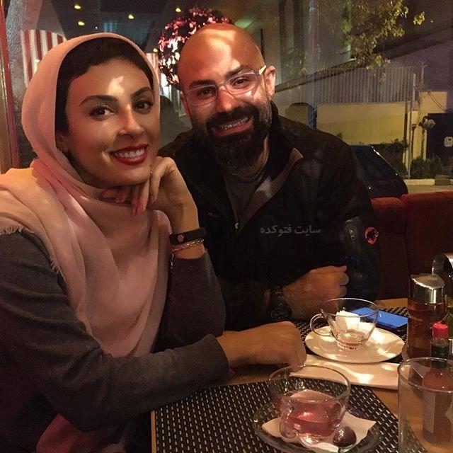 عکس جدید حدیثه تهرانی و همسرش پاییز 96 [بیوگرافی]
