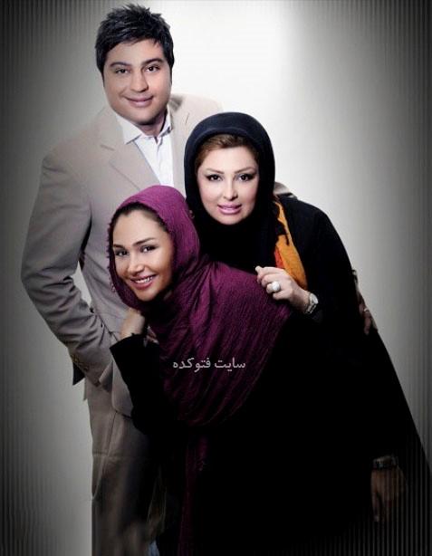 عکس نیوشا ضیغمی و همسرش آرش پولاد خان و خواهر نیوشا