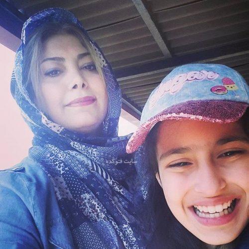 عکس لادن طباطبایی و دخترش