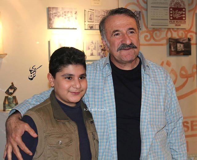 عکس مهران رجبی و پسرش