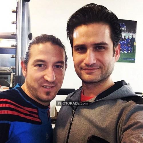 بازیگران ایرانی : عکس پویا امینی در کنار آندرانیک تیموریان فوتبالیست
