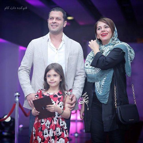 عکس پژمان بازغی و همسرش مستانه مهاجر و دخترش