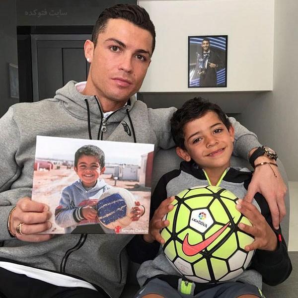 کریستیانو رونالدو و پسرش + بیوگرافی کامل