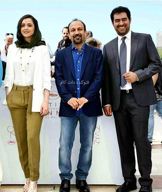 عکس ترانه علیدوستی در جشنواره کن 2016 با شهاب حسینی,عکس فرش قرمز فیلم فروشنده اصغر فرهادی در جشنواره کن 2016,عکس شهاب حسینی در جشنواره کن 2016,فیلم فروشنده