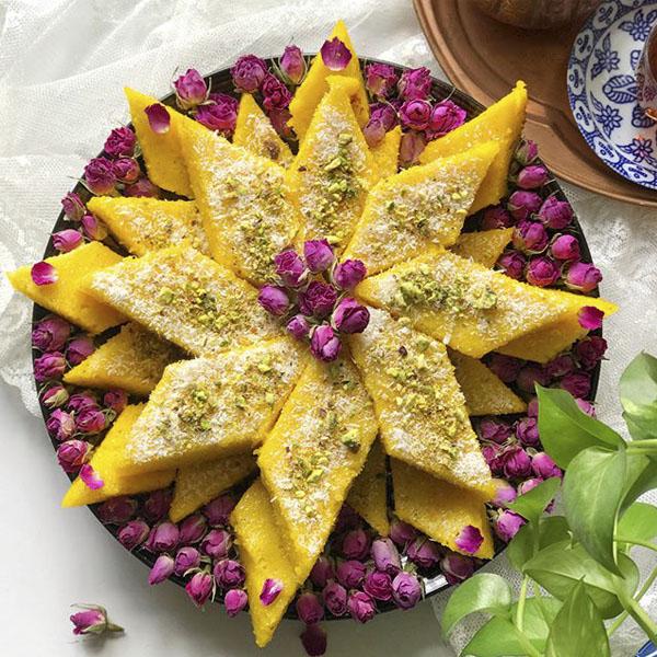 عکس و آموزش طرز تهیه کیک باقلوا