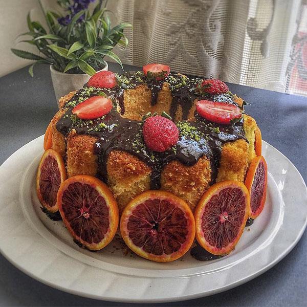 عکس و آموزش طرز تهیه کیک پرتقالی