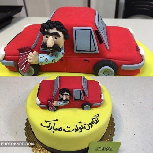 مدل کیک تولد برای شوهر راننده تاکسی
