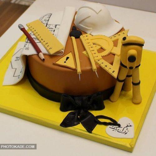 مدل کیک تولد مهندس عمران و معمار