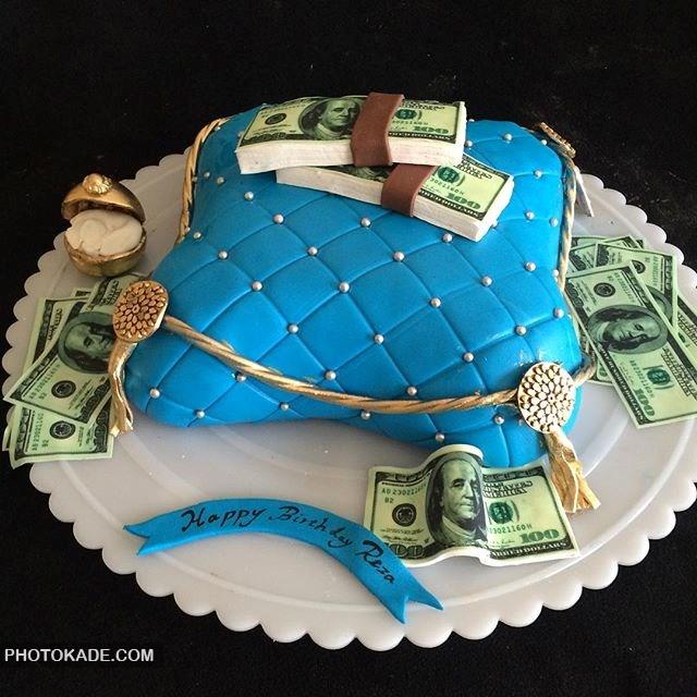مدل کیک تولد برای همسر عاشق پول و خرید