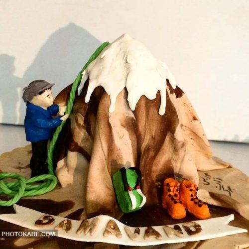 مدل کیک تولد برای پسر کوهنورد خانواده
