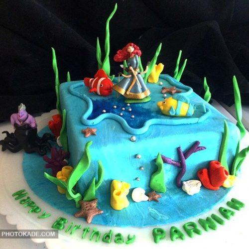 مدل کیک تولد فانتزی دخترانه