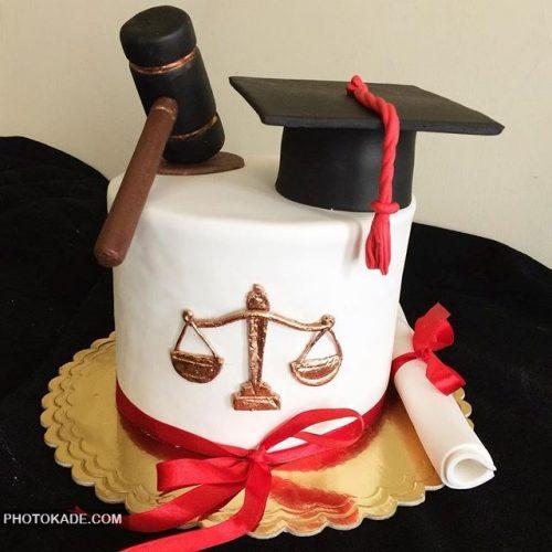 مدل کیک تولد برای فارغ التحصیل رشته حقوق