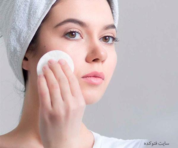 رفع پوست چرب صورت زنان و مردان در خانه