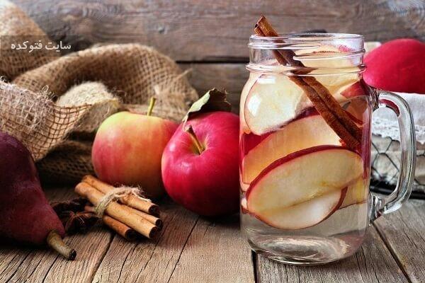 سیب و دارچین از نوشیدنی های لاغری شکم