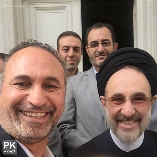 عکس جدید سید محمد خاتمی و حمید فرخ نژاد بازیگر مرد ایرانی
