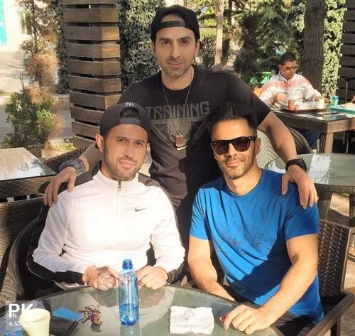 عکس جدید سیروان خسروی خواننده به همراه مهرداد اولادی فوتبالیست و مربی