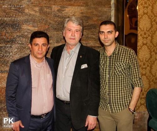 عکس ويكتوريوشنكو رئیس جمهور سابق اکراین در رستوران امیر قلعه نوعی مربی فوتبال