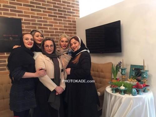عکس جمعی از بازیگران زن کنار سفره هفت سین عید نوروز 95