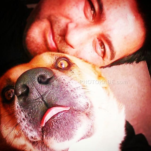 عکس حیوانات خانگی چهره های معروف : سگ خانگی امیرحسین صدیق