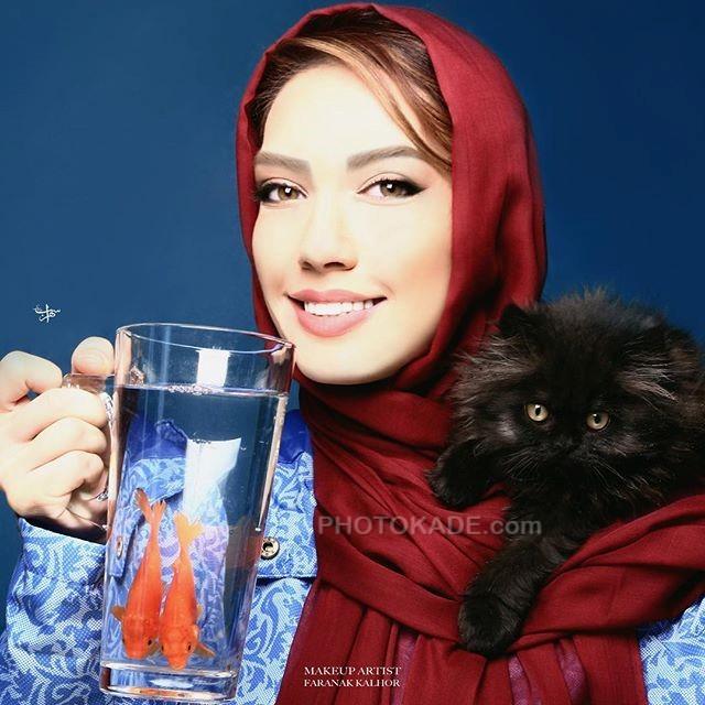 عکس حیوانات خانگی افراد خاص در ایران : گربه دوست داشتنی شهرزاد کمال زاده