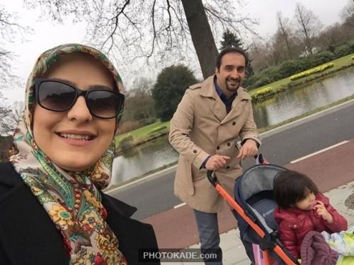 عکس جدید احسان کرمی و همسرش در هلند