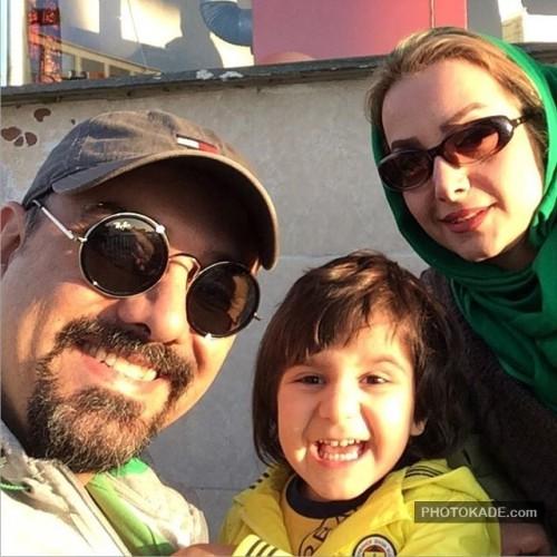 عکس جدید برزو ارجمند و همسر و پسرش
