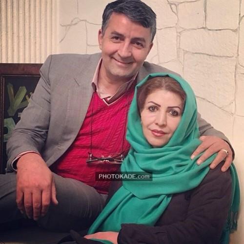 عکس جدید حمید ماهی صفت و همسرش