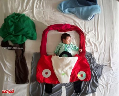 ایده های خلاقانه برای بچه های در خواب,عکس بچه های ناز در خواب,عکس مامان های خلاق برای بچه ها,ایده های جالب عکاسی از بچه ها در زمان خواب,عکس بچه های خوشگل