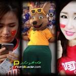 عکس تماشاگران زن چین و استرالیا