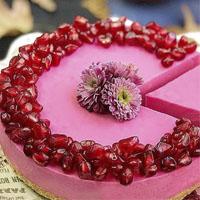 آموزش طرز تهیه چیز کیک انار بدون فر برای شب یلدا