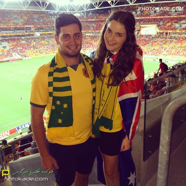 عکس تماشاگران بازی استرالیا و چین,تماشاگران استرالیا و چین در جام ملت های اسیا2015,تماشاگران بازی چین و استرالیا,تماشاگران زن سکسی چین و استرالیا,تماشاگران