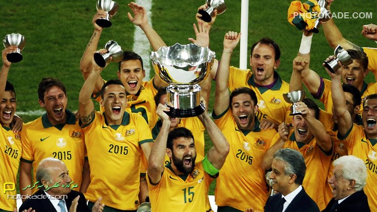 عکس اهدای جام در جام ملت های اسیا 2015