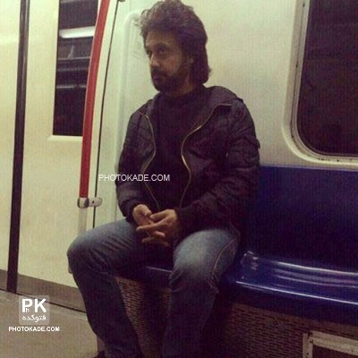 عکس داریوش در متروی تهران