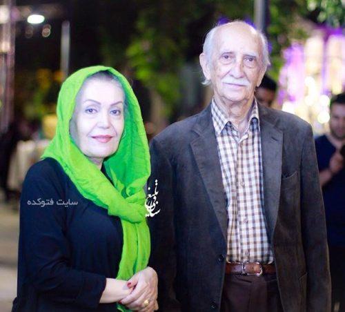 داریوش اسدزاده و همسرش طاهره خاتون میرزایی