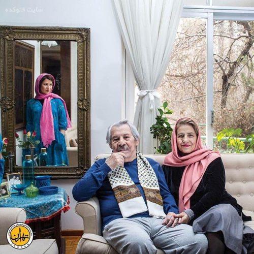 داوود رشیدی و همسرش + دخترش لیلی رشیدی