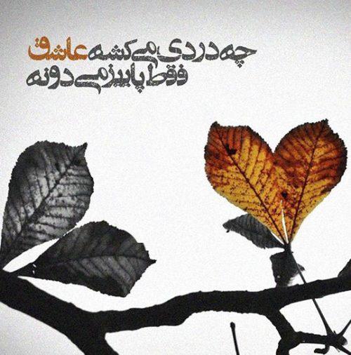 عکس شعر غمگین پاییز