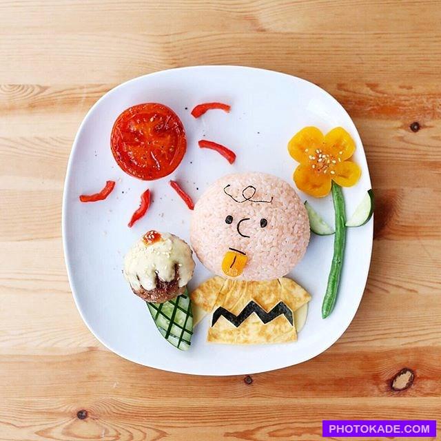 آرایش بشقاب غذای کودک