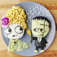 دیزاین زیبای غذای کودکان در بشقاب